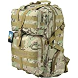 HUKOER 35L 45L Military Tactical Backpack - Outdoor Army Tactical Assault Molle Rucksacks Waterproof