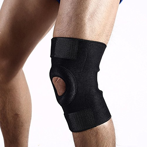 aaf4ea99b3 Knee Brace Support Protector - Relieves Patella Tendonitis - Jumpers Knee  Mensicus Tear - ACL Lateral