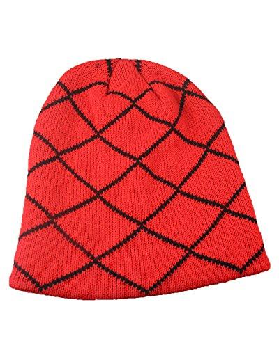 punto libre al aire Marrón de gorro Sombrero de rayado cálido lana SgpAzX