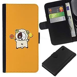 Ihec-Tech / Flip PU Cuero Cover Case para Sony Xperia Z1 L39H - Cute Lamb