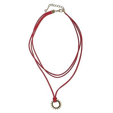 ae993bd56f18 Terciopelo Burdeos Gótico Gargantilla Collar de Vendimia Colgante   Amazon.es  Joyería