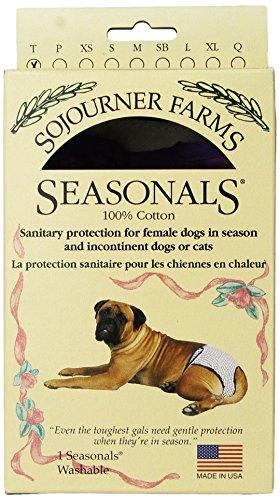 - Seasonals Washable Dog Diaper, Fits Toy Dogs, Purple Batik