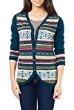NOVICA Multicolor 100% Alpaca Cardigan, 'Winter Fiesta'