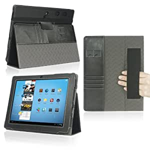 Coby MID9740 Case - Poetic Coby MID9740 Case [SlimBook Series] - [SlimFit] [Professional] PU Leather Slim Folio Case for Coby MID9740 Black (3 Year Manufacturer Warranty From Poetic)