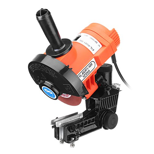 HITSAN 85W 12V Electric Chain Saws Sharpener 4500RPM Bench Mount Grinder Wheel Tool Brake One Piece by HITSAN