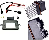 APDTY 5179985AA & 68052436AA Blower Motor Resistor Power Module & Wiring Harness Upgrade Kit For 1999-2004 Jeep Grand Cherokee w/ATC (Automatic Temperature Control)