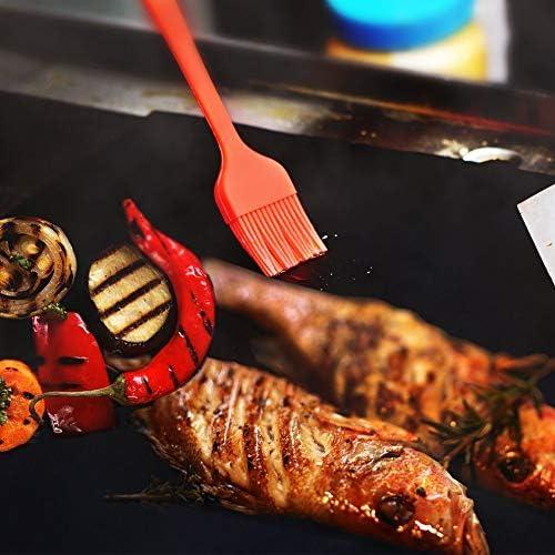 SWEEPID Usage extérieur Réutilisable Anti-Adhésif Barbecue Grill Tapis Pad Feuille De Cuisson Mailles Portable Pique-Nique en Plein Air Cuisson Barbecue Outil, Noir
