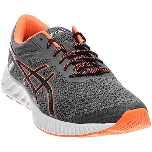 ASICS Men's FuzeX Lyte 2 Running Shoe, Carbon/Black/Hot Orange, 11.5 M - Running Co Sl