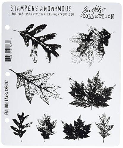 Stampers Anonymous Tim Holtz Cling Rubber Stamp Set, Falling Leaves (CMS-097) by Stampers Anonymous