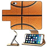 Luxlady Premium Apple iPhone 6 iPhone 6S Flip Pu Leather Wallet Case IMAGE ID 1978535 Basketball background