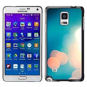Be Good Phone Accessory // Dura Cáscara cubierta Protectora Caso Carcasa Funda de Protección para Samsung Galaxy Note 4 SM-N910 // Blue White Mood Faint