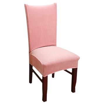 Stuhlhusse Stuhlbezug Elastische Husse Dekoration Stuhl Husse Stretch Altrosa