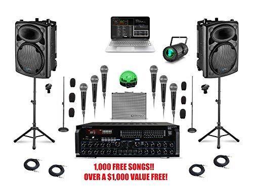 Complete Bluetooth Laptop Karaoke System Professional Computer for Karaoke &