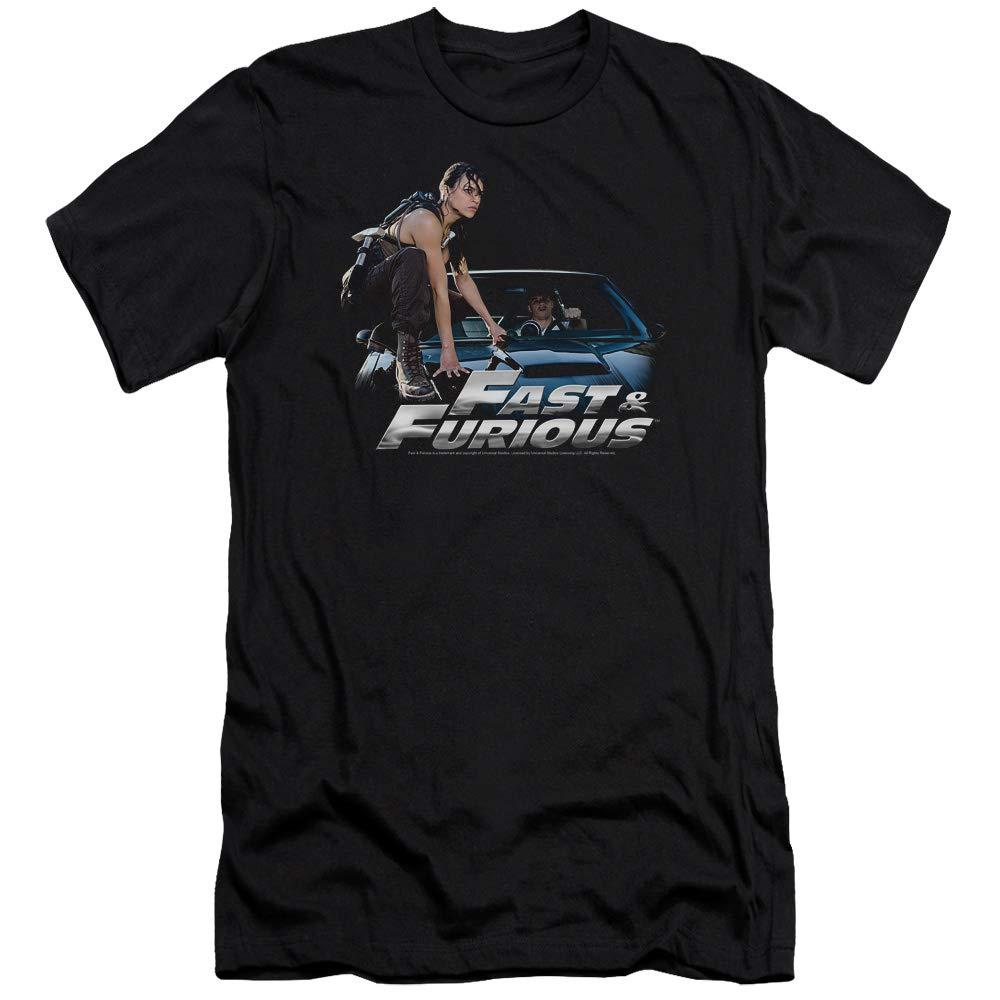 Black Fast And The Furious  Mens Car Ride Premium Slim Fit TShirt