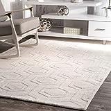"nuLOOM Ambrose Hand Woven Wool Area Rug, 8' 6"" x"