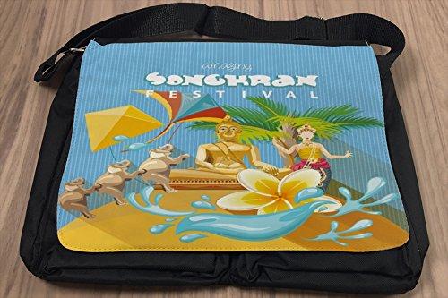 Borsa Tracolla Avventuriero Songkran Thailandia Stampato