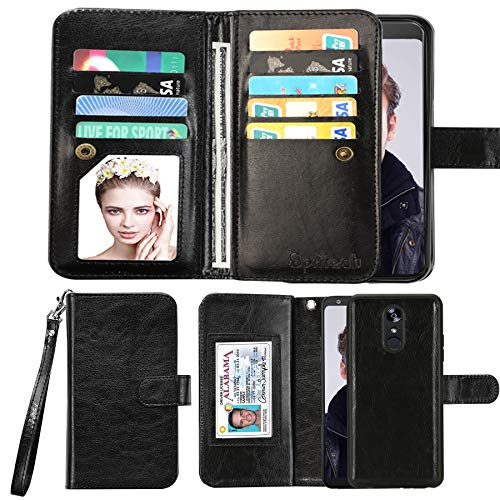 Spritech Galaxy S10 Plus Case,Samsung S10 Plus Wallet Case,Samsung Galaxy S10+ PU Leather Case,Luxury Cash Credit Card Slots Holder Carrying Flip Cover [Detachable Magnetic Hard Case]