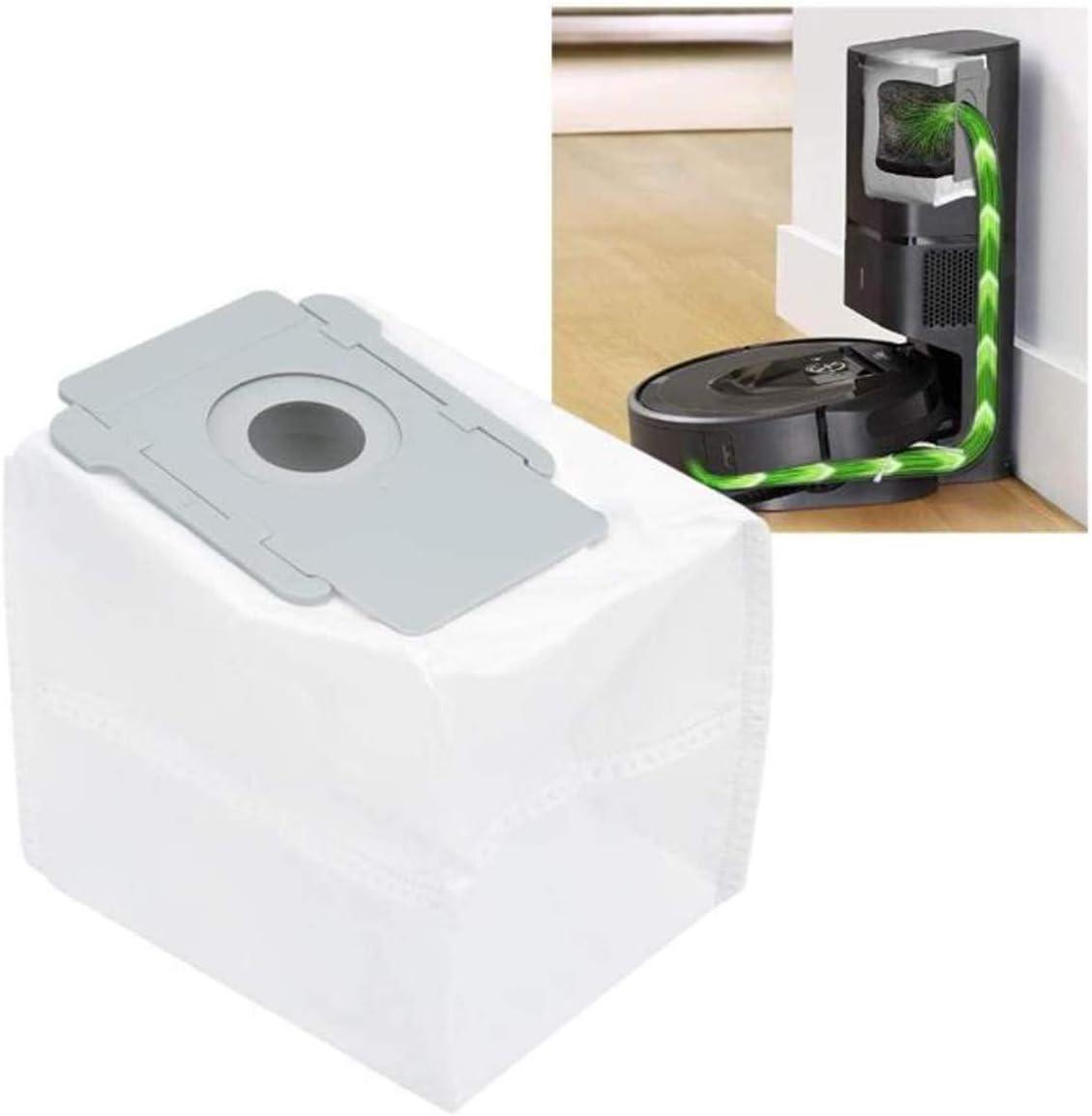 s9 + 9550 i7 // Plus 7150 7550 Nordun Paquete de 8 Bolsas de Vac/íO,Bolsas Eliminaci/ón autom/ática de suciedad Repuesto para iRobot Roomba i7 E5 E6 S9 S9+//S9 Plus Series Aspiradora Robot
