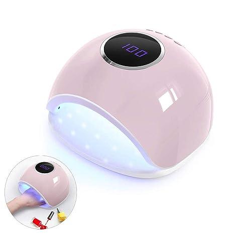 ZYJFP 72W Secador De Uñas para Uñas Profesional Lámpara UV Luz Blanca con 4 Temporizador De