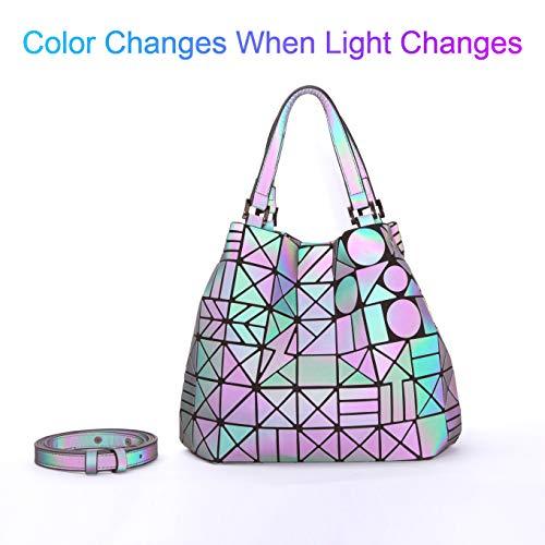 Mano Bolso Geométrico Bolsa Moda Hombro No 5 Holográfica De Para Mujer ffqp4Bw