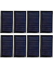 Ladieshow Mini Zonnepaneel, 8 STKS 30MA 5 V Mini Zonnecellen Panelen DIY Solar Epoxy Plaat Elektrische Speelgoed Materialen Fotovoltaïsche Cellen Oplader