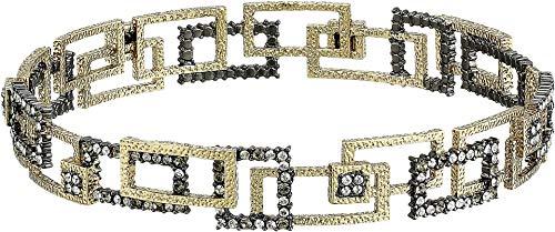 Alexis Bittar Women's Crystal Encrusted Brutalist Bangle 10k Gold/Ruthenium One Size ()