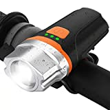 TUSAZU USB Rechargeable Bike Light, 500 Lumens Super Bright LED Bicycle Light ,1200mah Lithium Battery, 6 Light Mode Options, Water Resistant IP65, for Kids Men Women Road Cycling Safety Flashlight