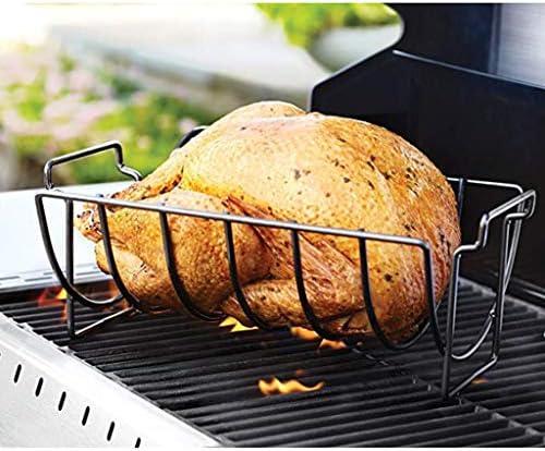 Nobran Support anti-adhésif en acier pour barbecue, poulet, bœuf