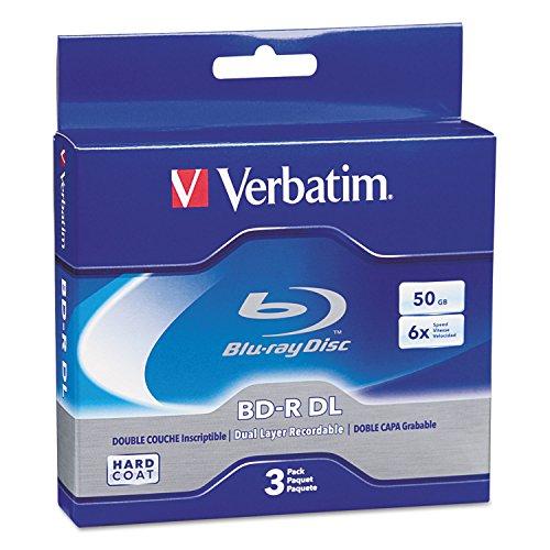 Verbatim - 3-Pack 6X BR-R DL Disc Spindle from Verbatim
