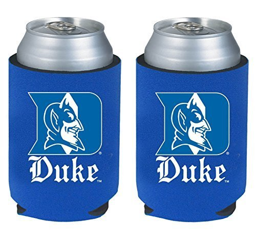 NCAA College 2014 Team Logo Color Can Kaddy Holder Cooler 2-Pack (Duke Blue Devils)