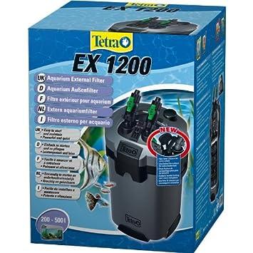 Tetra 145559 EX 1200 Potente exterior filtro (para acuarios Incluye 5 diferentes unidad de filtro, adecuado para 200 - 500 litros Acuarios): Amazon.es: ...