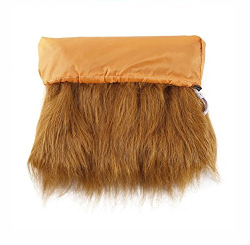 Theeb Lion Mane For Medium to Large Sized Dogs With Ears Plus FREE Lion Tail - SIMBA Lion King Mane For Dogs - Light Brown King of The Jungle Dog Wig For Your Best Friend - Dogs Party Costume by THEEB (Image #4)
