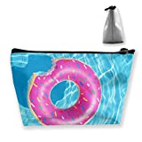 Trapezoid Toiletry Pouch Portable Travel Bag Doughnut Swim Clutch Bag