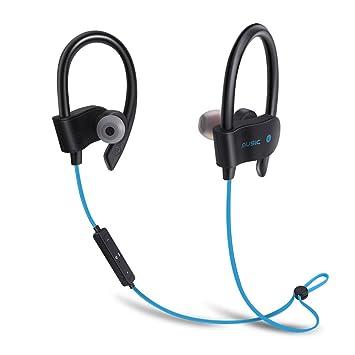EUGO Auriculares Bluetooth 4.1 Deportivos, Tiempo Largo de Reproducción, Cascos Manos Libres para Correr