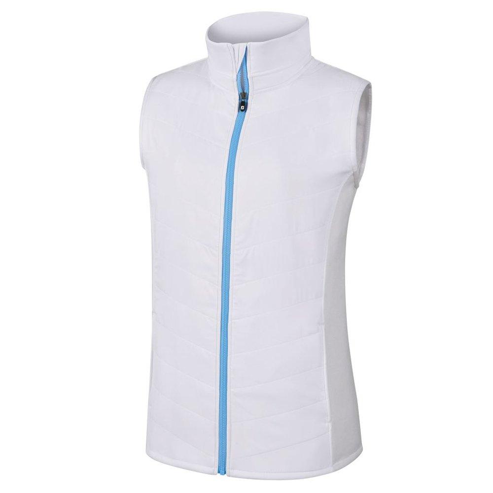 FootJoy Full Zip Quilted Hybrid Golf Vest 2018 Women White X-Small