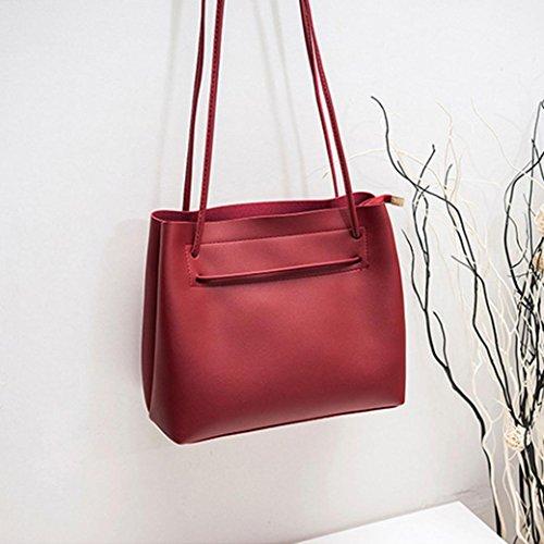 Blue Messenger For Clipping Bag Women Girl Handbag Totes Women NXDA Bag Casual Bucket Leather Red Crossbody Crossbody Bag Purse Bag For xnwzpvHqZ
