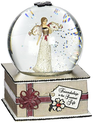 Modeles by Pavilion Gift 100mm Musical Water Globe, Saying-Friendship is the Greatest Gift, (Water Globe Ornament)