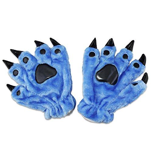 abcGoodefg® Cosplay Animal Paw Claw Hand Gloves, Cute, Adorable, Unisex, Warm Plush Fancy Party Kigurumi Pet Panda Bear