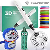TECreator 3D Pen for Drawing – Slim Design, Heat Control, Extra Filament Refills – Low Temperature - Professional Drawing Tool for Kids and Adult - Colorful Art DIY Tool & Gift