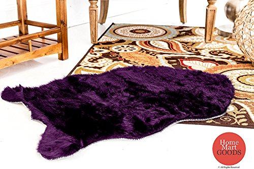 Home Must Haves 2×3 Feet Faux Sheepskin Rug Carpet Shaped (Purple)