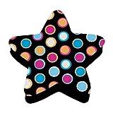 Ashley ASH10026BN Magnetic Whiteboard Eraser, Star Dots, MultiPk 6 Each