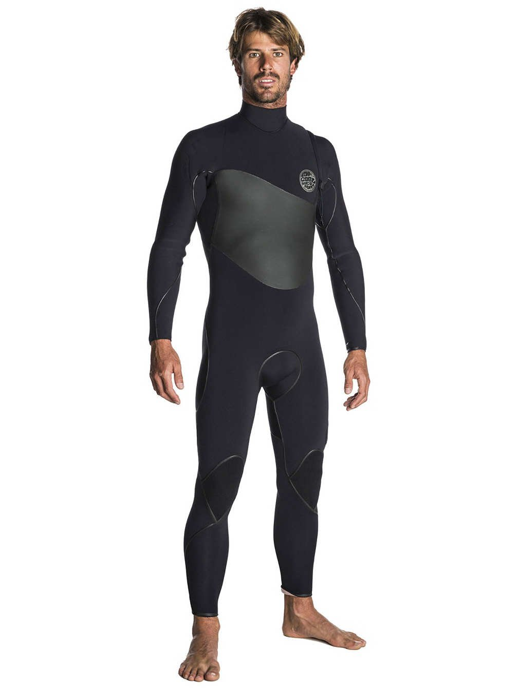 RIP CURL 2017 Flashbomb Plus Zip Free Wetsuit 4 3mm schwarz WSM7QF