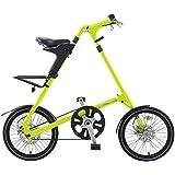 STRiDA EVO Folding Bike, Compact Bike, 3 Speed, 16 inch Wheels, Men's Bikes; Women's Bikes, Neon Green