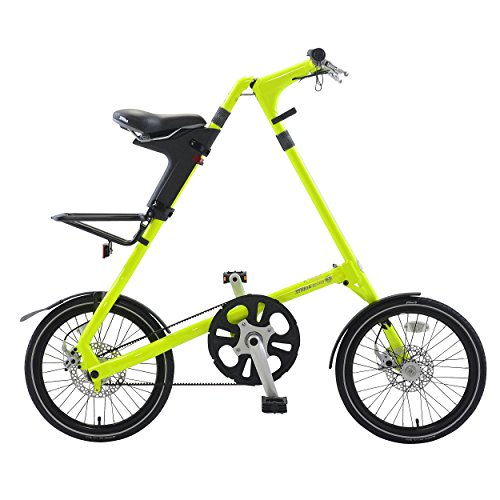 Strida EVO folding bicycle, internal 3 speed hub, folds to 45x20x9', Neon Green