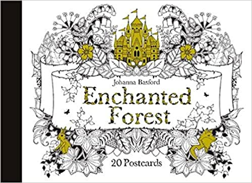amazoncom enchanted forest postcards 20 postcards 9781856699792 johanna basford books