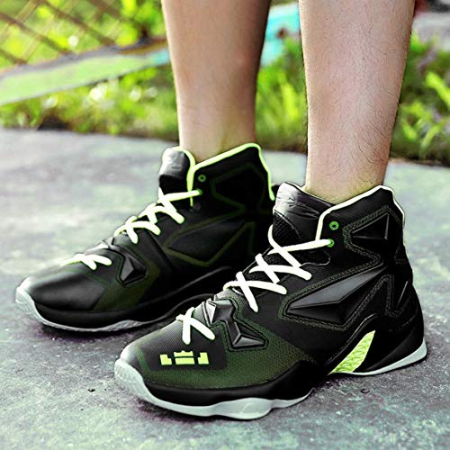 Basket de Chaussures antidérapante Baskets en Chaussures Basket de Ball Mode de Caoutchouc Plein Hommes de Ball Centrale Sport en air de Semelle Chaussures d'unité léger 46qHS6B0xw