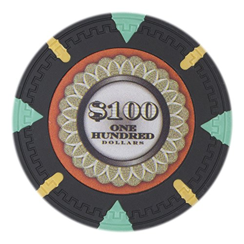 Claysmith Gaming The Mint Poker Chip Heavyweight 13.5-gram Clay Composite – Pack of 50 ($100 Black)