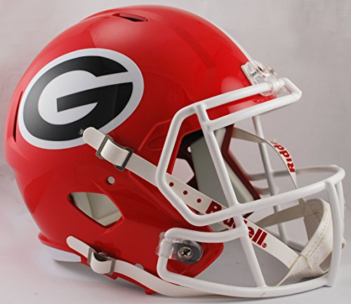 NCAA Georgia Bulldogs Full Size Speed Replica Helmet, Red, (Georgia Bulldogs Helmet)