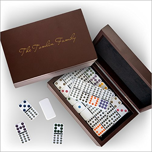 Domino Set in a Personalized Wood Box - 3558]()