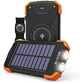 Amazon.com: Solar Charger, 10000mAh Solar Power Bank ...